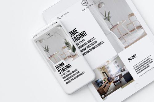 Od Nowa - home staging - strona internetowa typu one page design poświęcona aranżacji domów i mieszkań przeznaczonych na sprzedaż.