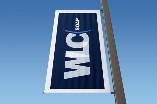 Wizualizacja flagi z nowym logiem WLC SOAP Biała Lista Podatników