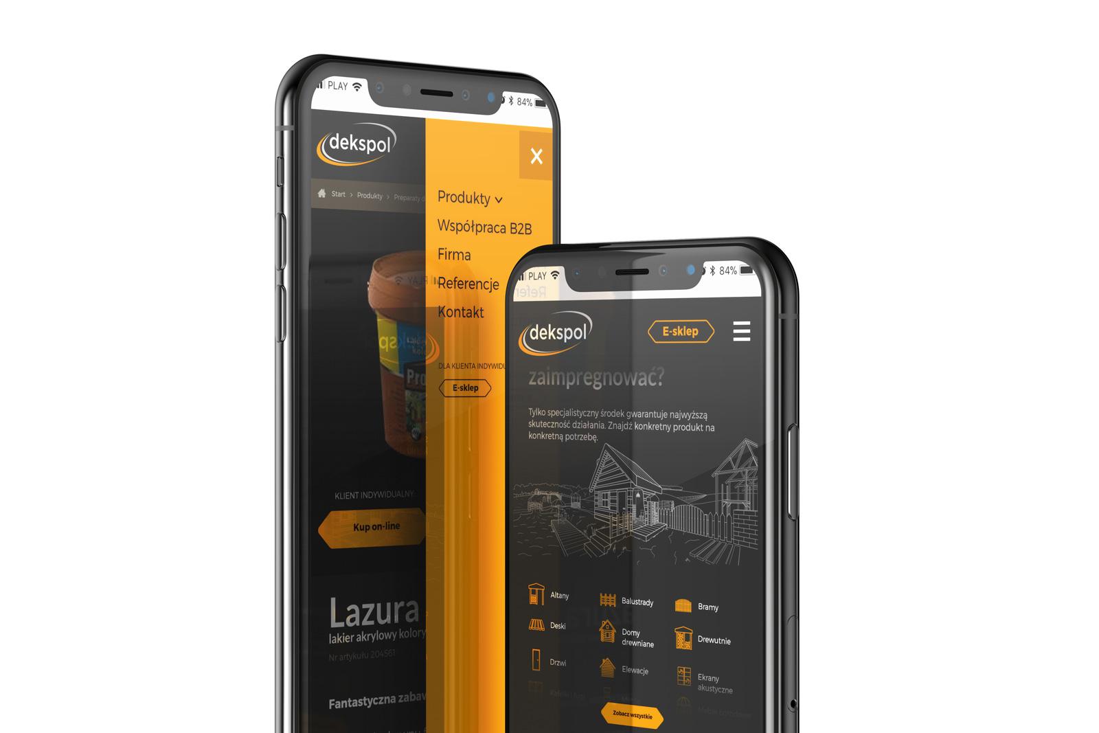 Dekspol - wizualizacja nowej strony internetowej producenta chemii do drewna