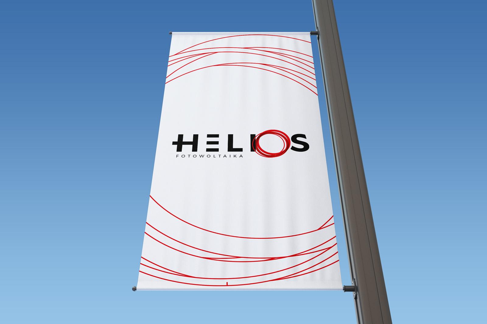 Helios Fotowoltaika z Gliwic (Śląsk) - opracowanie identyfikacji wizualnej, branding firmy fotowoltaicznej