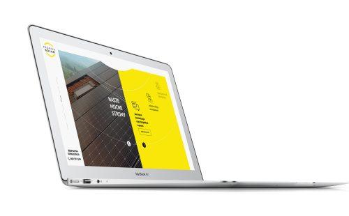 Promika Solar - mockup strony na laptopie