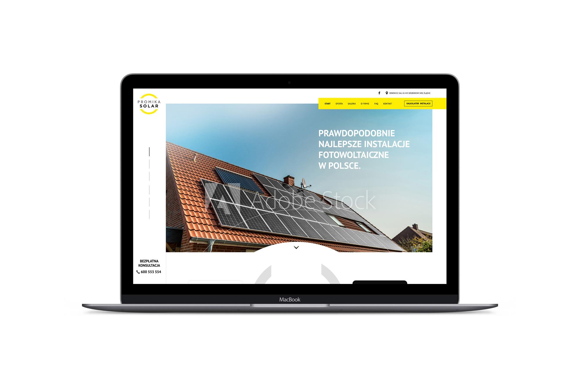 Promika Solar - projekt strony internetowej dla instalatora paneli fotowoltaicznych