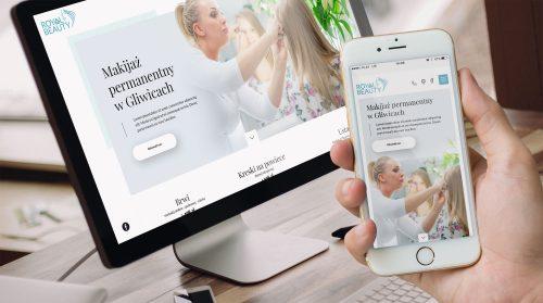 Royal Beauty Gliwice - strona internetowa, projekt graficzny i kodowanie na WordPressie