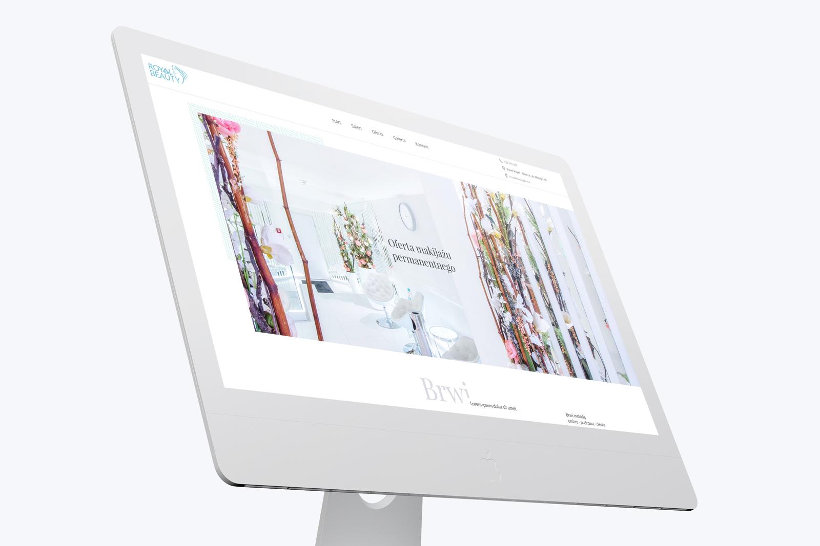 Royal Beauty - projekt strony internetowej www dla gabinetu urody z Gliwic na Śląsku