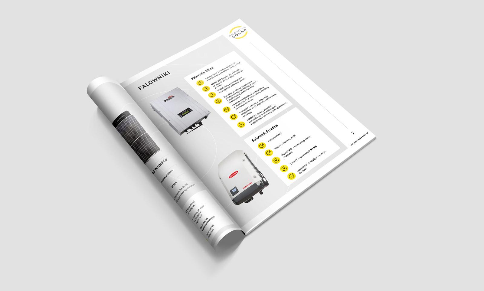 Promika Solar - broszura ofertowa - projekt i wizualizacja na mmockupie 4