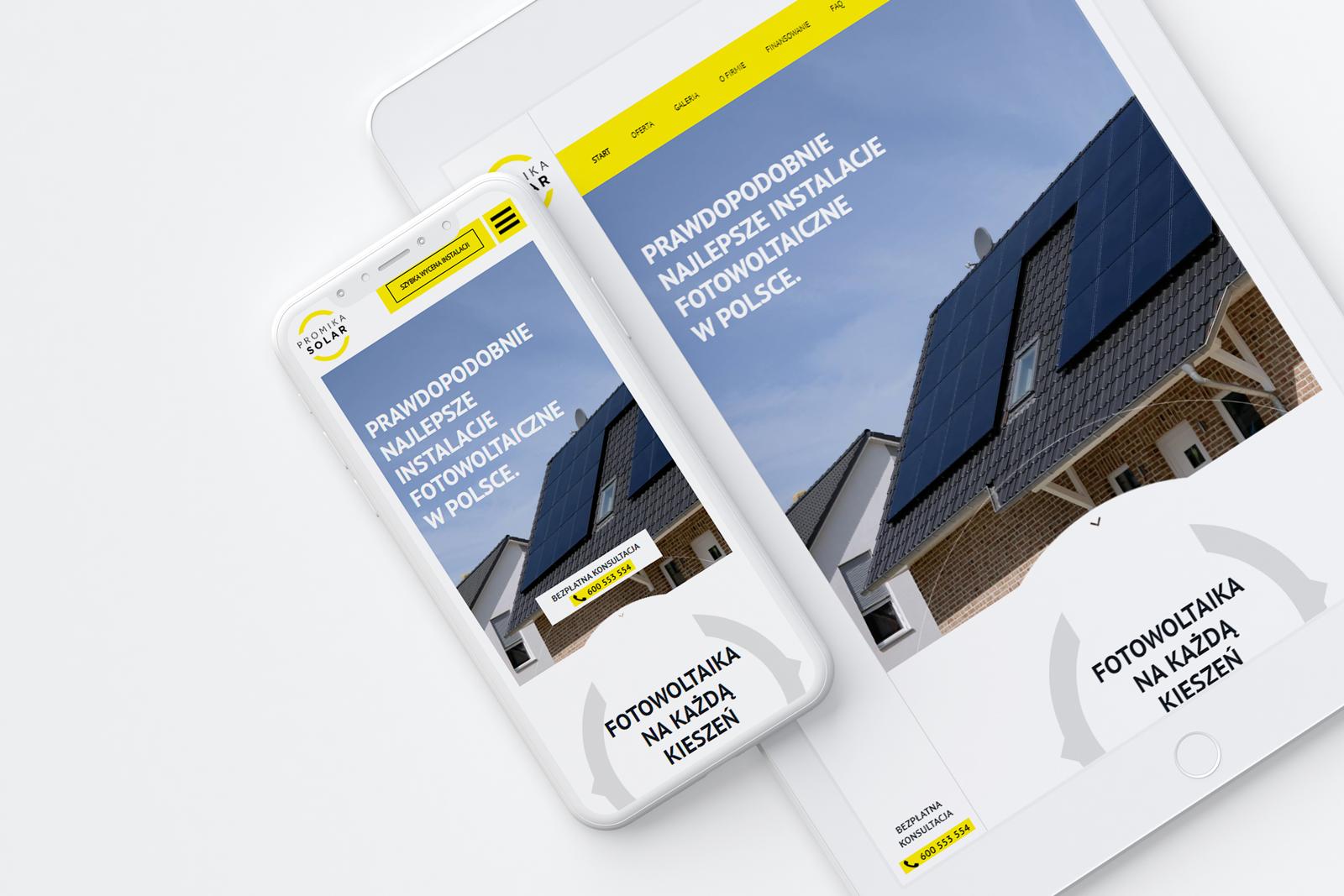 Promika Solar - projekt nowej strona internetowa
