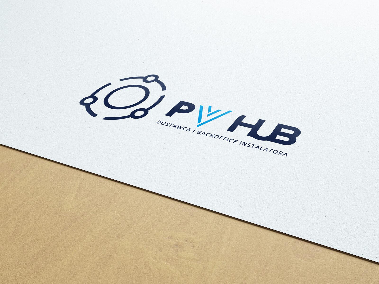 Projekt logo dla PVhub - dostawca i backoffice instalatora fotowoltaiki