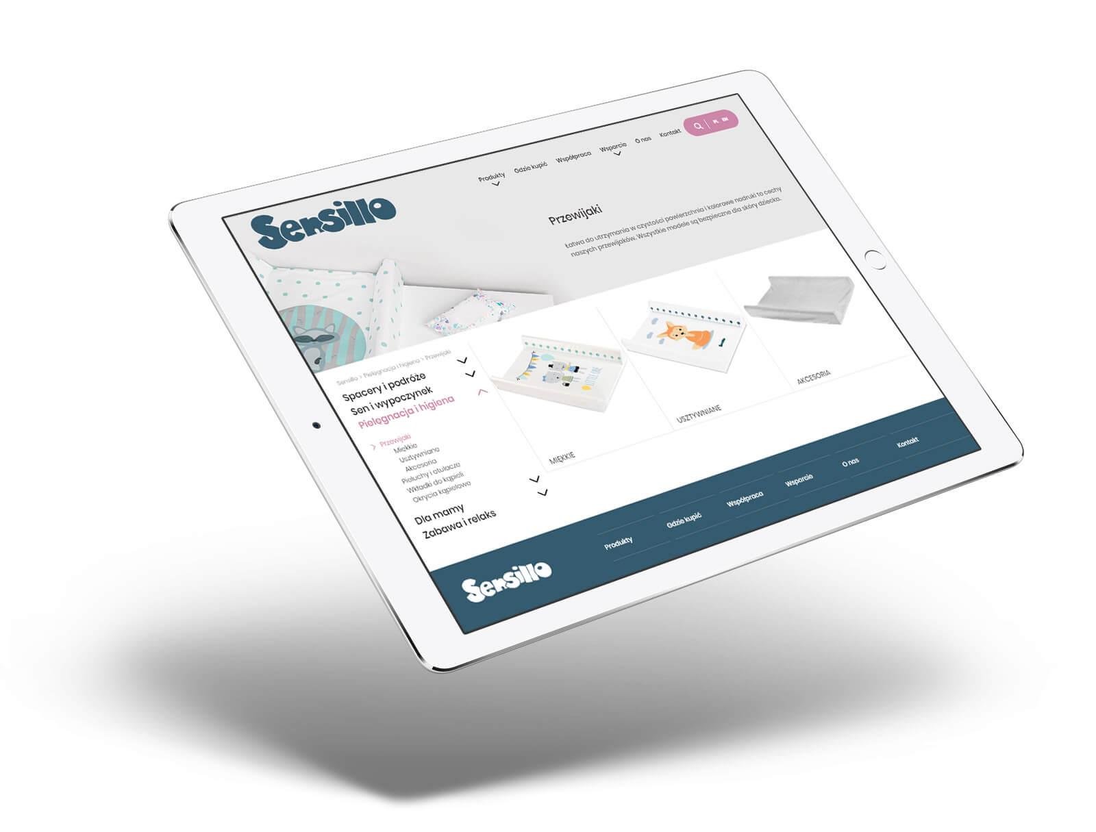 Sensillo - projekt sklepu internetowego ecommerce